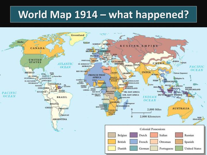World Map 1914 – what happened?