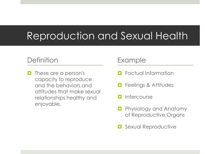 Reproduction and Sexual Health