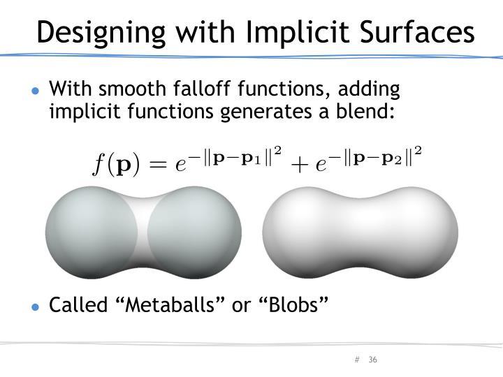 Designing with Implicit