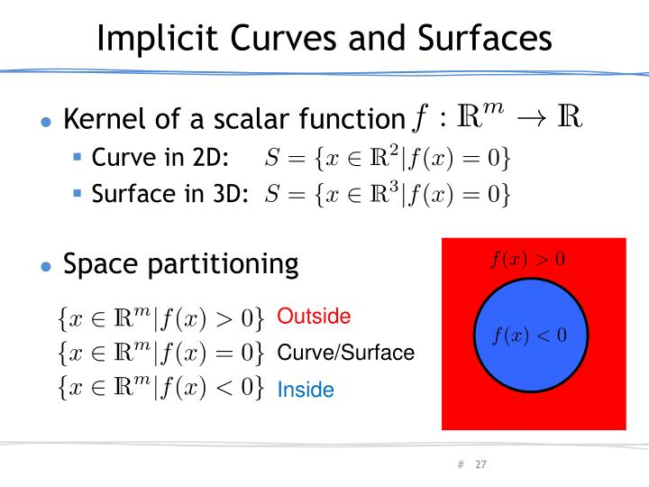Implicit Curves and Surfaces