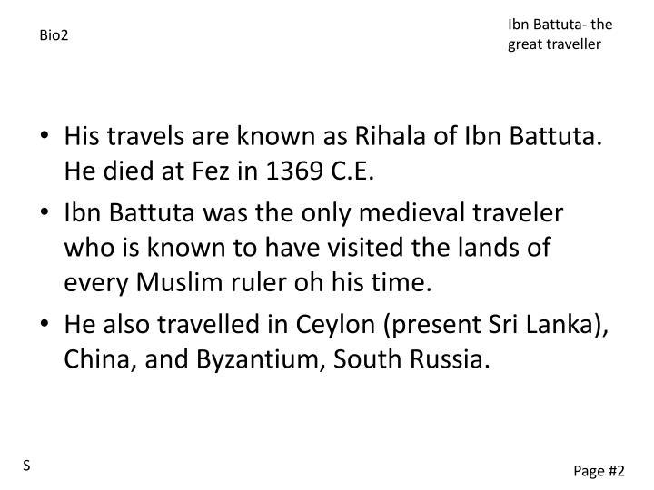 Ibn Battuta- the great