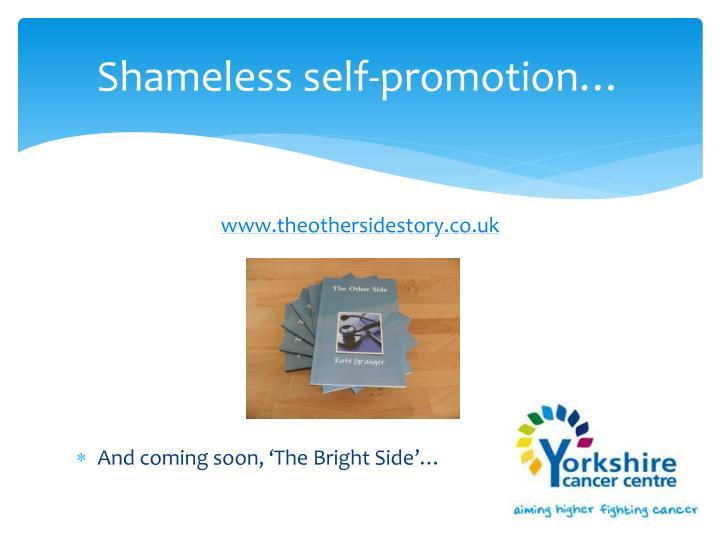 Shameless self-promotion…