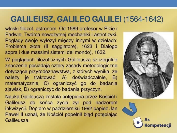 Galileusz, Galileo Galilei