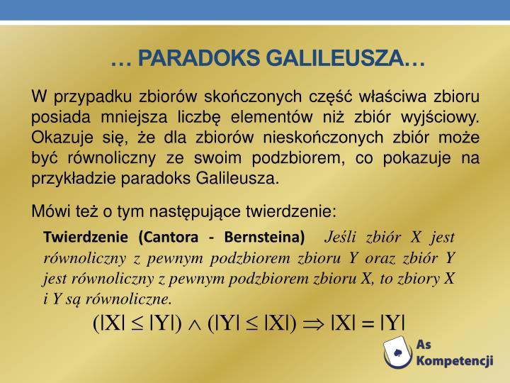 … Paradoks Galileusza…