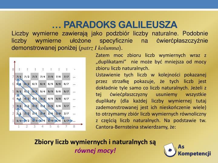 … Paradoks Galileusza