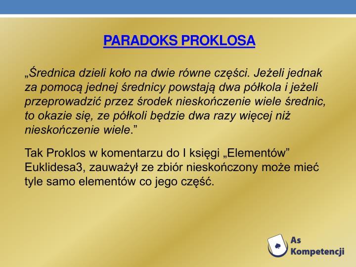PARADOKS PROKLOSA