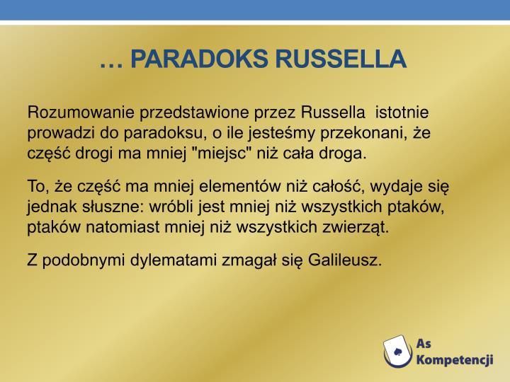 … Paradoks Russella