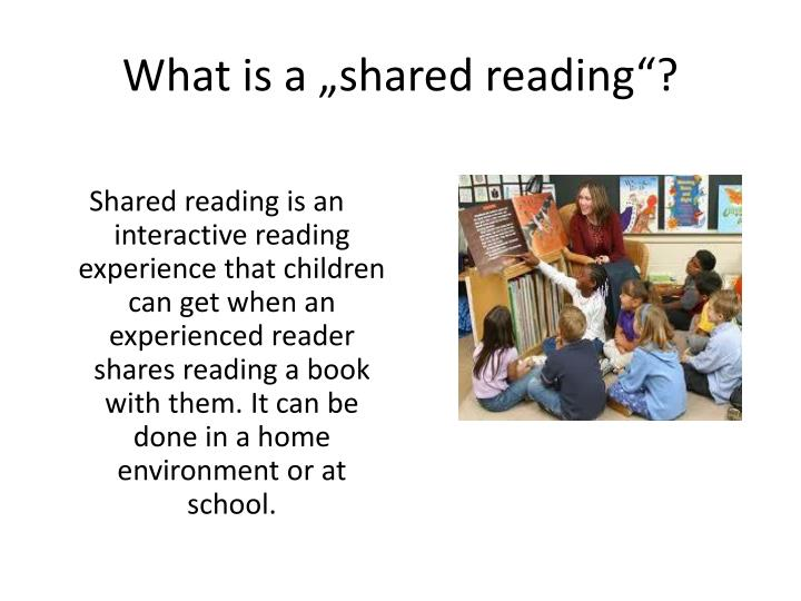 What is a shared reading