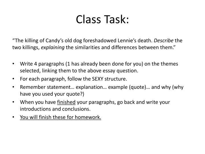 Class Task: