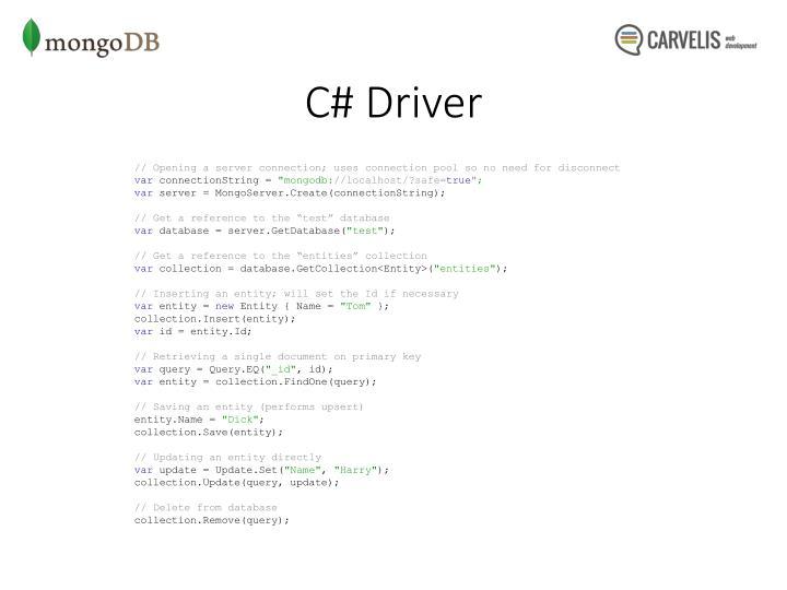 C# Driver