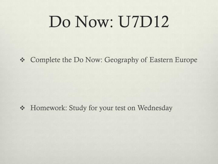 Do Now: U7D12