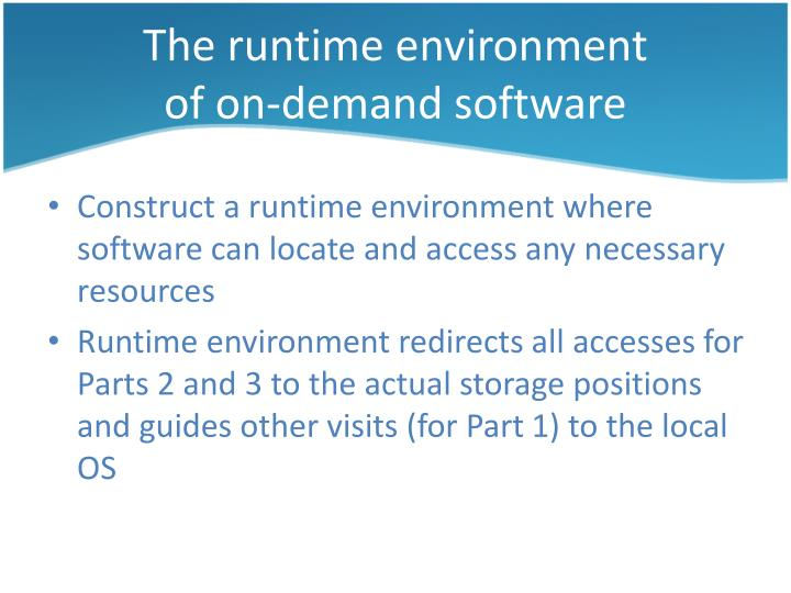The runtime environment