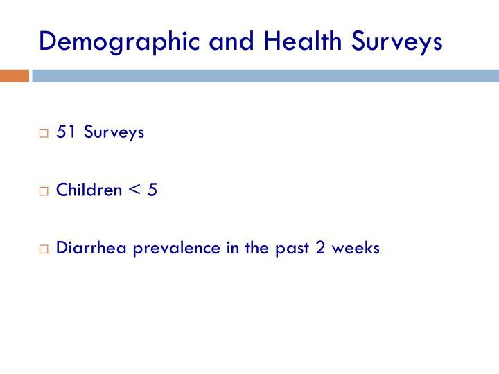 Demographic and Health Surveys