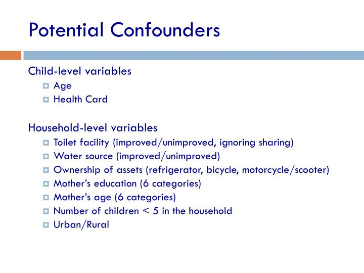 Potential Confounders