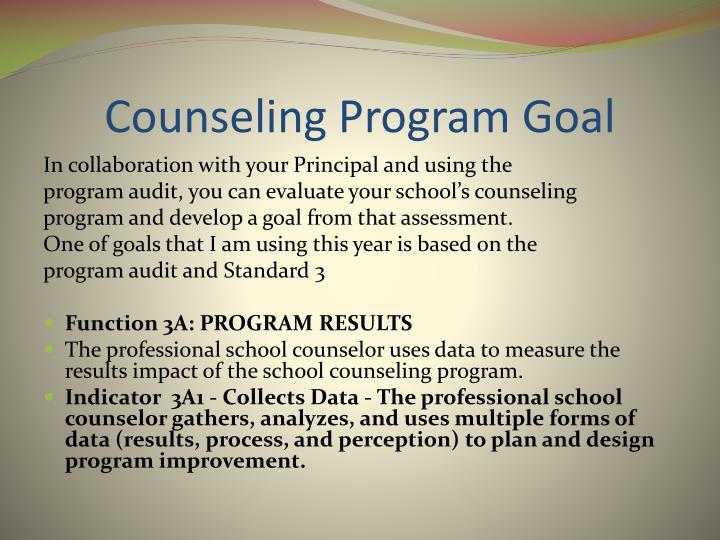 Counseling Program Goal