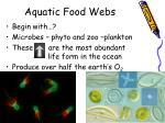 aquatic food webs1