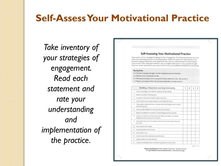 Self-Assess Your Motivational Practice