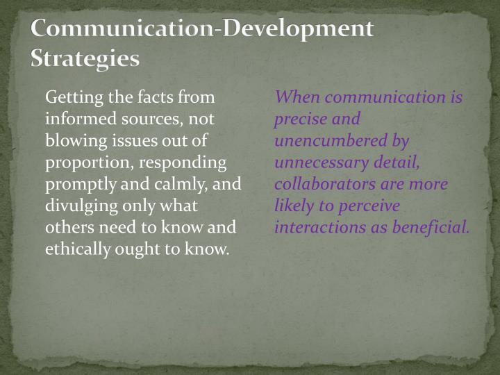 Communication-Development Strategies