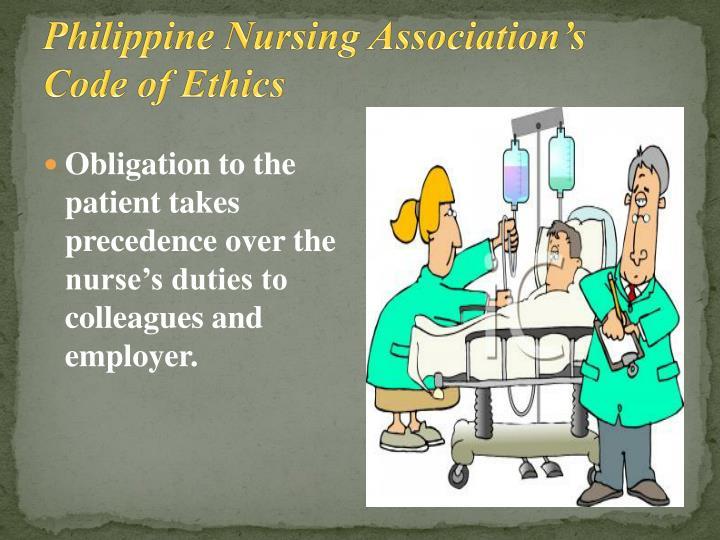 Philippine Nursing Association's Code of Ethics