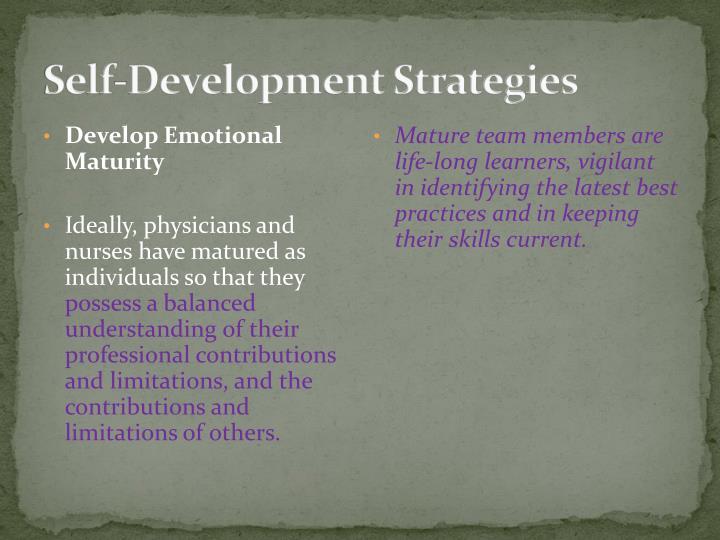 Self-Development Strategies