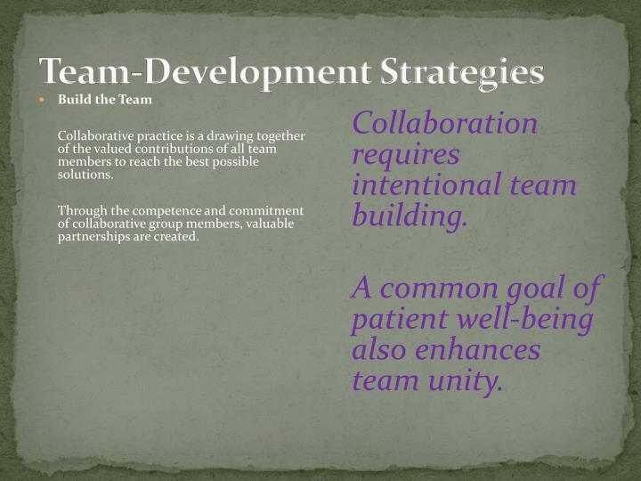 Team-Development Strategies