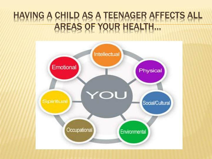 Having a child as a teenager affects all areas of your health…