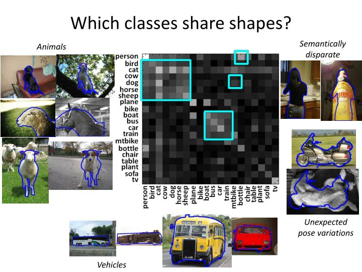 Which classes share shapes?