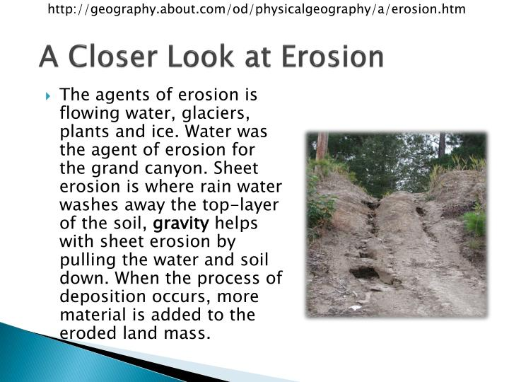 A closer look at erosion