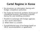 cartel regime in korea