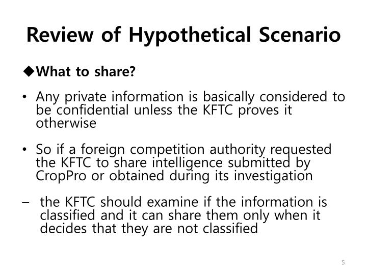 Review of Hypothetical