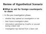 review of hypothetical scenario3