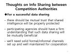 thoughts on info sharing between competition authorities
