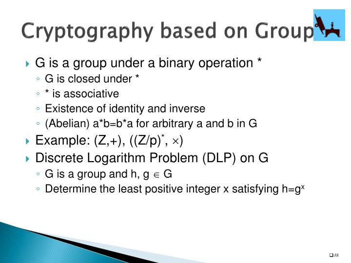 Cryptography based on Groups
