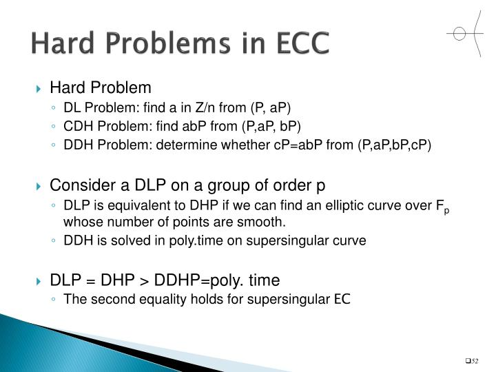 Hard Problems in ECC