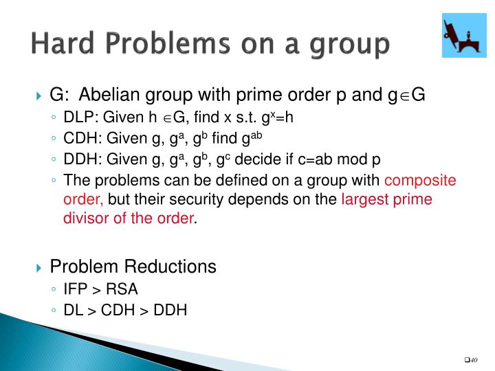 Hard Problems on a group