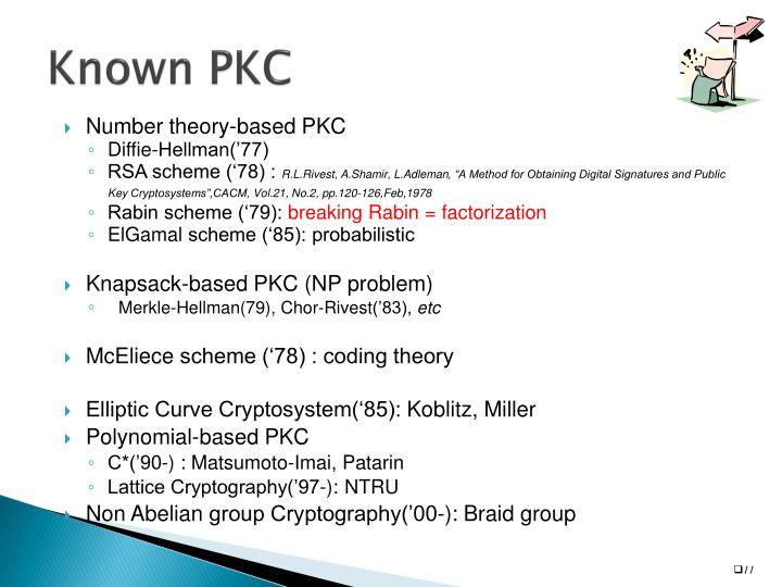 Known PKC