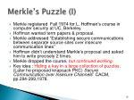 merkle s puzzle i