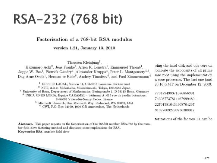RSA-232 (768 bit)