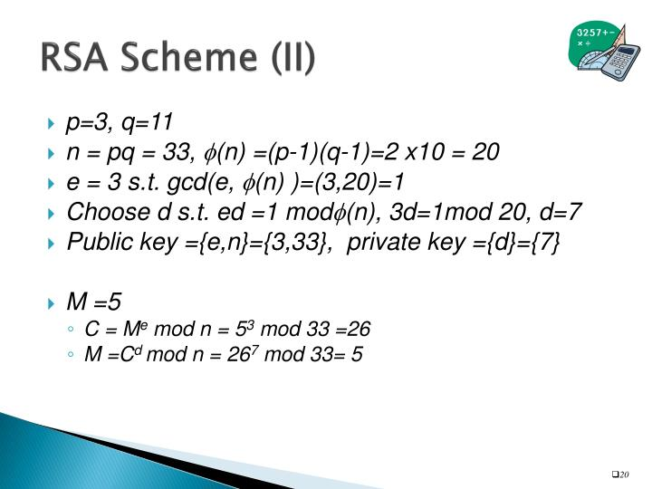RSA Scheme (II)