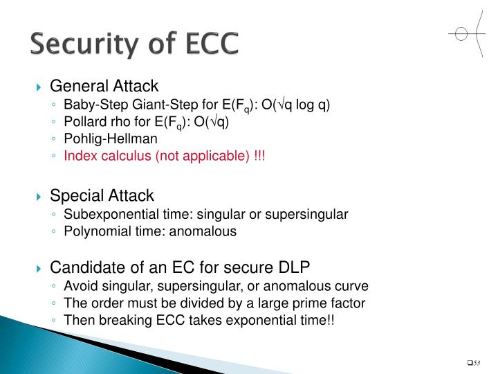 Security of ECC