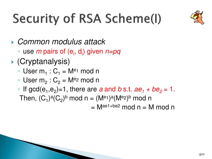 Security of RSA Scheme(I)