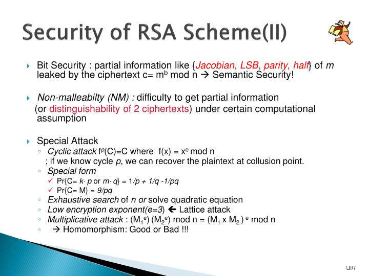 Security of RSA Scheme(II)