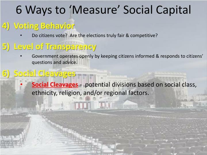 6 Ways to 'Measure' Social Capital