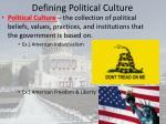 defining political culture1