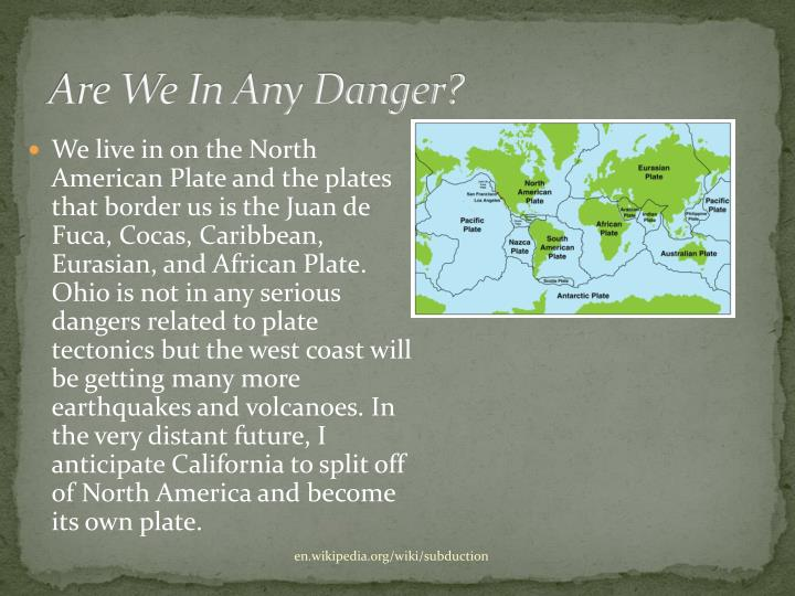 Are We In Any Danger?