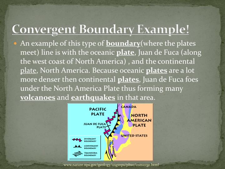 Convergent Boundary Example!