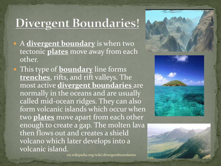 Divergent Boundaries!