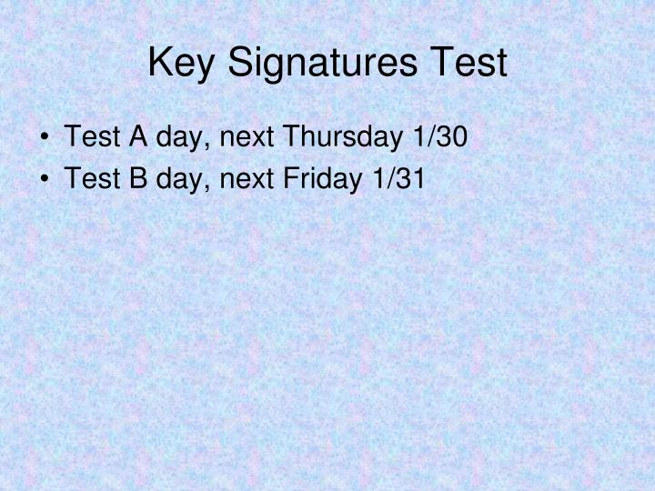 Key Signatures Test