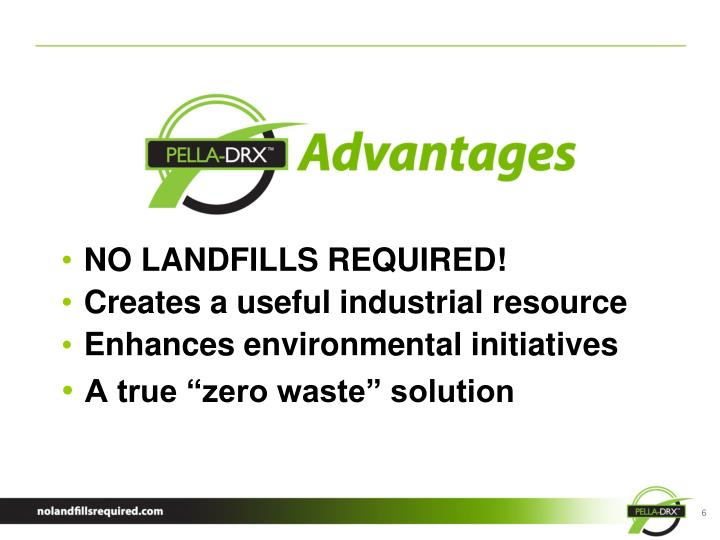 NO LANDFILLS REQUIRED!