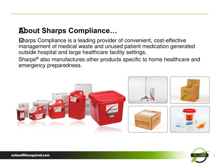 About Sharps Compliance…